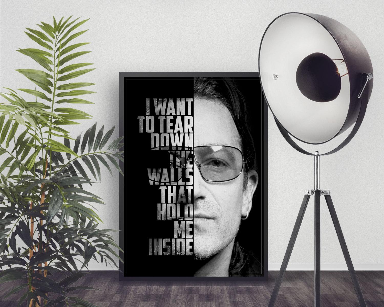 Grafisk kunst Bono U2